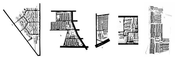 Plantas generales de las cooperativas Mesa 1-2-3-4 y 5.